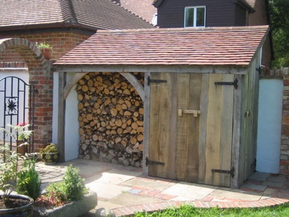 Oak Framed Log Shed / Store, Hollingbourne, Kent