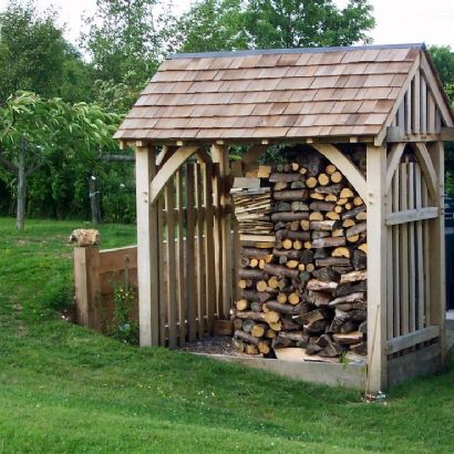 Oak Framed Log Shed / Store