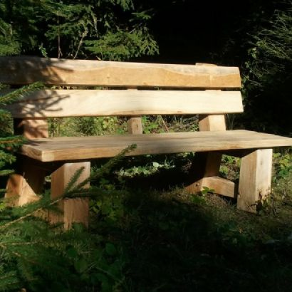 Park rustic bench