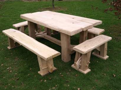 Another table and some rustic benches